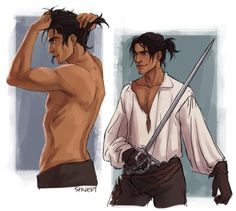 The Musketeers fan art by Spader7: 'Did someone say D'Artagnan in a ponytail??'