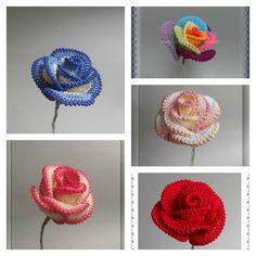 How to Crochet Pretty Roses #Crochet #Rose #Pattern