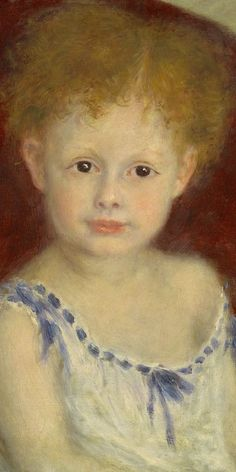 Pierre-Auguste Renoir - Jacques Bergeret as a Child (detail), ca. 1880