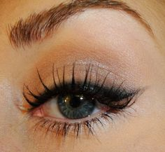 "TiffanyD: 50's Retro Makeup, ""Cat-Eye"" Liner Effect"
