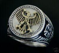 German Eagle Men's Signet ring Sterling Silver 925