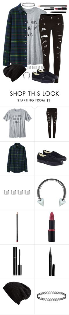 """""""Emo Girl (meee) set tag!"""" by eyes-wide-open-x ❤ liked on Polyvore featuring River Island, Uniqlo, Vans, Maison Margiela, Chantecaille, Chanel, Marc Jacobs, Free People, Topshop and women's clothing"""