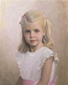 Beautiful oil portrait of a girl by a Portraits, Inc. artist