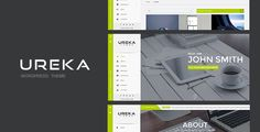 awesome UREKA - Responsive Vcard WordPress theme (Portfolio)