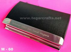 M-60: A Name card Holder  gift seminars ordered by Lembaga Sandi Negara Republic of Indonesia.       Various collection of name card holder options, using soft synthetic leather, can be used to store your business cards. Ideal as an executive gift or gift for professionals. We offer additional printed logo or your company name with laser engraving or screen printing technique. So you can make exclusive gifts, stylish and highly appreciated-for professionals in your life. Name Card Holder, Name Cards, Company Names, Laser Engraving, Screen Printing, Business Cards, Printed, Logo, Stylish