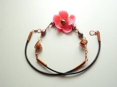 Pink flower necklace remembers you the spring will come again ♥ by EvAtelier1, $26.80