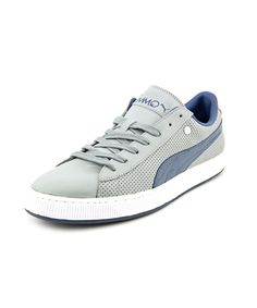 Puma Basket Classic Pp Men Round Toe Leather Sneakers', Grey