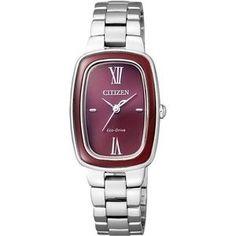 ELEGANT EM0006-53W Eco-Drive Citizen Eco, Michael Kors Watch, Watches For Men, Band, Stuff To Buy, Citizen Watches, Elegant, Purple, Colors