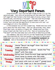 What the Teacher Wants!: VIP