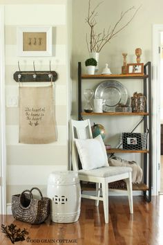 Living Room Shelving by The Wood Grain Cottage