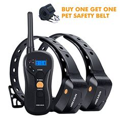 HISEASUN Remote Controlled Dog Training Collar Rechargeable and Waterproof 650yd Blind Operation with Beep Vibration Shock Electronic Collar for All Size Dogs -- Learn more by visiting the image link. (This is an affiliate link) #dogtrainingandbehavioraids