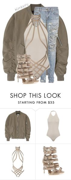 """Untitled #1859"" by whokd ❤ liked on Polyvore featuring Fear of God, Yves Saint Laurent, Agent Provocateur and Giuseppe Zanotti"