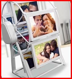 The product is made of acrylic. Frame Size 90x125 Mm.Product Width 19 Cm Height 33 CmPossibility of Putting 12 Different Photos on the Product #customized #customized #forgirlfriend christmas cookies packaging Large Size Musical Ferris Wheel with Personalized Photo Printed 41+ Christmas Cookies Packagin