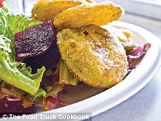 THE FOOD TRUCK COOKBOOK'S RECIPE FOR FRIED GREEN TOMATO SALAD