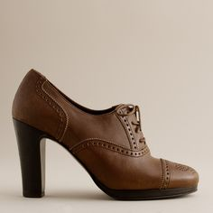 Langford leather high-heel oxfords : platforms | J.Crew