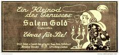 Original-Werbung/Anzeige 1912 - SALEM GOLD CIGARETTEN / YENIDZE DRESDEN - ca. 210 x 90 mm