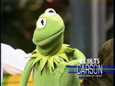 "Kermit the Frog and Jim Henson are interviewed by Johnny Carson on ""The Tonight Show"" in 1975."