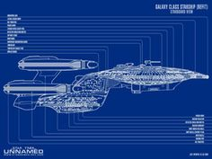 Galaxy Class - Refit - Starboard View
