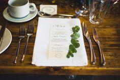 Classy wedding menu's with eucalyptus. We love a winter wedding! Styled by Glass Slipper Weddings