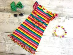 Rainbow Fringe Dress:  BLOWOUT SALE!  JUST $6.74 FOR ONE WEEK ONLY!