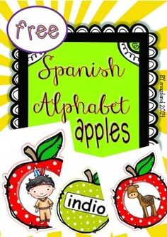 "Spanish Alphabet Apple Cards FREEBIE!...Follow for Free ""too-neat-not-to-keep"" teaching tools & other fun stuff :)"