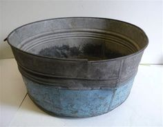 Image result for painted galvanized tubs Glass Milk Bottles, Milk Glass, Galvanized Wash Tub, Tub Paint, Tin Bath, Horse Trough, Metal Chicken, Beer Bucket, Chicken Feeders