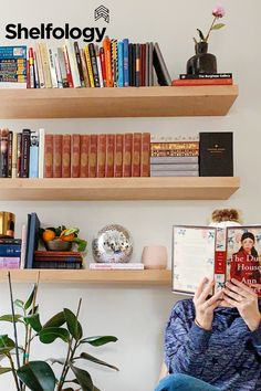 Our Aksel Floating Shelf makes an awesome perch for books, photos,