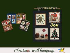 evi's Sims 4 Downloads - 'christmas' Christmas Wall Hangings, Sims 4, Joy, Content, Frame, Decor, Picture Frame, Decoration, Glee