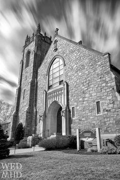 Long Exposure - Our Lady Star of the Sea Church - Marblehead, MA Church Architecture, Long Exposure, Our Lady, Middle Ages, Black And White Photography, Wander, Louvre, Sky, Stars