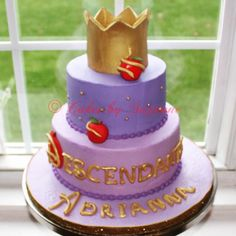 Disney descendants cake #descendants