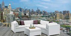 Marine Grade Polymer- Brio MGP Sectional Cushion #patio #furniture #homedecor #patioideas #outdoorliving