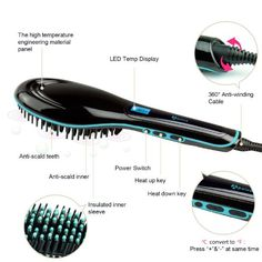 Straighting Hot Hair Brush Tool Anti Scald Styling Healthy Beauty Perfect Professional Cosmetic Hair System Must Have