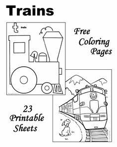 Train Color Page Transportation Coloring Pages Plate