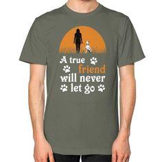 I love my dalmatian Unisex T-Shirt (on man)