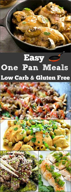 Easy One Pan Meals Low Carb- simple all in one pan meals