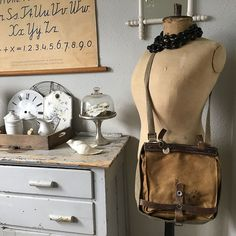 Fun vintage Swiss military satchel arrived from Europe – complete with former soldier's name tag still attached!