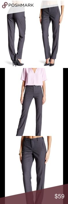 "🆕 NYDJ Sandrah slim fit trousers - Zip fly with button closure - Banded waist with elasticized back and sides - Faux front and back besom pockets - Approx. 9"" rise, 33.5"" inseam - Imported Fiber Content 68% polyester, 29% viscose, 3% elastane Care Machine wash cold with like colors Fit: this style fits true to size. Brand new with tag. Retail price $130. NYDJ Pants Trousers"
