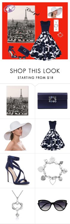 """Untitled #1087"" by makeup-queen-anna ❤ liked on Polyvore featuring Trademark Fine Art, Roger Vivier, Eric Javits, Imagine by Vince Camuto, ChloBo, La Perla and vintage"