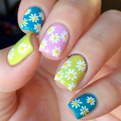 Amazing Designs Of Easter Nails For Your Inspiration ★ See more: naildesignsjourna… Loading. Amazing Designs Of Easter Nails For Your Inspiration ★ See more: naildesignsjourna… Nail Art Designs 2016, Easter Nail Designs, Easter Nail Art, Flower Nail Designs, Flower Nail Art, Nail Designs Spring, Cute Summer Nail Designs, Nagellack Trends, Spring Nail Art
