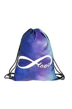 51ad90a100 Galaxy Love Printing Drawstring Bag Who Cares Brand Women Backpack Mochila  Eastpack School Bags for Teenagers Sac A Dos Femme