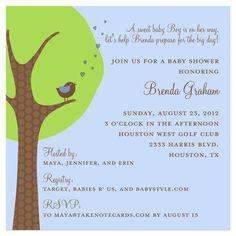 Trees Baby Shower Invitations