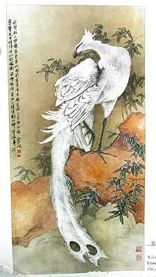 Phoenix with white feathers, I like the delicate swan-like vibe from this painting