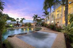TiTree Resort Apartments Port Douglas Ti-Tree Resort features a large lagoon-style swimming pool, a hot tub, a BBQ area and a full-size tennis court. It offers affordable self-contained apartments.  The gorgeous Four Mile Beach is close by.