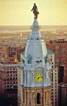 William Penn atop of city hall. Philadelphia City Hall, Visit Philadelphia, Germantown Philadelphia, Philadelphia Eagles, Philly Style, William Penn, South Philly, Architectural Prints, Jersey Girl