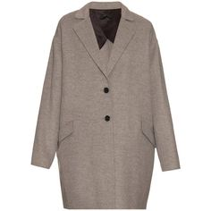 Joseph Sido wool and cashmere-blend coat ($743) ❤ liked on Polyvore featuring outerwear, coats, joseph, light grey, cashmere blend coat, woolen coat, wool cashmere blend coat, wool coat en joseph coat