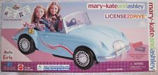 Mary-Kate and Ashley License 2 Drive Convertible Car Vehicle Playset...New !!!
