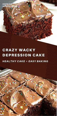 Crazy Wacky Depression Cake, Desserts, This vintage depression cake recipe (wacky cake recipe) is quick and easy to make with simple ingredients in 1 bowl! It has no butter, no milk, no egg. Dessert Simple, Food Cakes, Cupcake Cakes, Cupcakes, Healthy Cake Recipes, Sweet Recipes, Box Cake Recipes, Yummy Recipes, Gastronomia