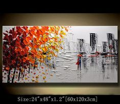Abstract Wall PaintingPalette Knife Abstract