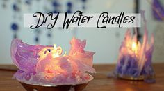 Make Stalactite looking Candles by dipping them in water!! Perfectly suitable…