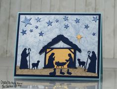 christmas nativity by cards and paper crafts at splitcoaststampers - Nativity Christmas Cards